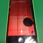 【修理実績No.57】iPhone5Cのフロントパネル液晶割れ